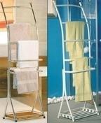 Porte-serviettes à poser CORFOU métal haut.158,5cm larg.35,5cm long.51cm chromé brillant - Armoires de toilette et Accessoires - Salle de Bains & Sanitaire - GEDIMAT