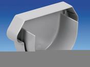 Fond de gouttière PVC symétrique à coller de 16 coloris gris clair - Faîtière d'about de départ pour faîtage à glissement TERREAL coloris vieux midi - Gedimat.fr