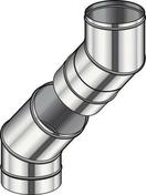 Ensemble de 2 coudes 45° réglable diam.180mm - Elément coudé à 45° pour conduit isolé inox-galva diam.180mm intérieur - Gedimat.fr