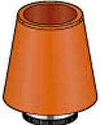 Mitron brun cuivre pour tubage de diam.180mm - Tubages rigides - Chauffage & Traitement de l'air - GEDIMAT