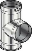 Té 90°+tampon d'obturation diam.130mm - Accessoires de ramonage - Chauffage & Traitement de l'air - GEDIMAT