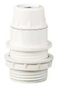 Douille électrique plastique culot à visser E14 chemise 1/2 filetée + bague diam.34mm blanche - Fiches - Douilles - Adaptateurs - Electricité & Eclairage - GEDIMAT