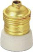 Douille électrique laiton collerette et pastille porcelaine culot à visser E27 - Fiches - Douilles - Adaptateurs - Electricité & Eclairage - GEDIMAT
