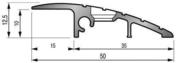 Rampe d'accès à visser RMP4 aluminium ép.10mm long.3m finition Naturel - Quincaillerie de portes - Menuiserie & Aménagement - GEDIMAT