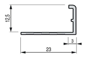 Arrêt de cornière carrelage PVC ép.12,5mm larg.23mm long.2,50m Blanc - Accessoires pose de carrelages - Revêtement Sols & Murs - GEDIMAT