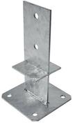 Pied de poteau type S haut.23cm - Porte d'entrée STRAES en aluminium gauche poussant haut.2,15m larg.90cm laqué gris - Gedimat.fr