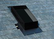 Embase d'étanchéité ocre pour sortie de toit TRADINOV 80 sur toiture avec tuile PRESTIGE - Sorties de toit - Couverture & Bardage - GEDIMAT