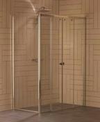 Paroi fixe � 90� ALESIA haut.2m long.79,5cm profil�s blanc verre transparent - Portes - Parois de douche - Salle de Bain & Sanitaire - GEDIMAT