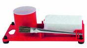 Support pour pierre ammoniacale et flux avec pinceau - About de faîtage droit pour rives verticales de tuiles ROMANE-CANAL coloris rose Charentais - Gedimat.fr