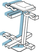 Croisillons de montage pour brique de verre paquet de 100 - Listel carrelage pour mur en faïence TRAMA larg.6,5cm long.25cm coloris azurro - Gedimat.fr