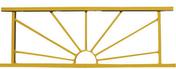 Barre d'appui SOLEIL en acier moulurée haut.31cm larg.1,40m couche d'après antirouille - Balustrades et Garde-corps extérieurs - Menuiserie & Aménagement - GEDIMAT