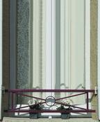 Barre d'appui à croisillon et motif rond en acier moulurée haut.25cm larg.1,40m - Balustrades et Garde-corps extérieurs - Menuiserie & Aménagement - GEDIMAT
