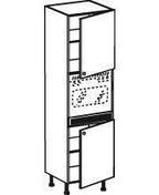 Meuble de cuisine CACHEMIRE armoire four 2 portes haut.200cm larg.60cm - Four micro onde encastrable ACCESSION  23 litres coloris inox - Gedimat.fr
