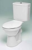 WC sortie verticale CONFORT en porcelaine haut.78,5cm larg.68cm long.37,5cm blanc - Ecran de baignoire 2 volets PROTECT haut.140cm larg.90cm verre transparent - Gedimat.fr