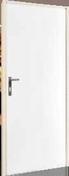 Ensemble quincaillerie pour porte de service coupe-feu - Bloc porte plane prépeint âme pleine huisserie Néolys 74x49mm larg.93 cm gauche poussant - Gedimat.fr