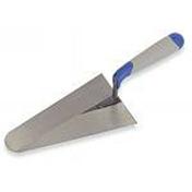 Truelle italienne ronde manche bi matière diam.24cm - Plan de travail stratifié ép.38mm larg.1,2m long.4,1m R4 décor béton blanc - Gedimat.fr