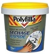 Enduit lissage sechage rapide pâte 330g - Enduit de rebouchage fissures et trous élastique POLYFILLA en pâte tube de 330g blanc - Gedimat.fr