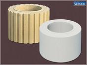 Elément fût de colonne cannelée diam.35cm coloris pierre - Poutre NEPTUNE section 12x35 cm long.6,00m pour portée utile de 5.1 à 5.60m - Gedimat.fr