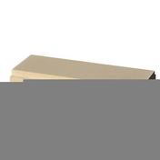 Lisse plate 25 pour balustrades gamme OCEANE long.49,5cm larg.24,5cm ép.8cm coloris pierre - Balustrades et Garde-corps extérieurs - Menuiserie & Aménagement - GEDIMAT