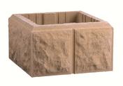 Elément de pilier bosselé dim.30x30cm haut.16,7cm coloris ton pierre - Semelle de fondation plate S45 larg.45cm 4 aciers HA8 long 6m - Gedimat.fr