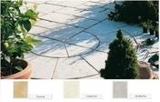 Cercle CASTELLANE en pierre reconstituée d'aspect martelé ép.3,5cm diam.2,80m coloris Savanne - Doublage isolant PREGYTHERM R= 1,15 Hydro BA10+40 plaque de plâtre PREGYDRO + PSE Graphite TM ép.10+40mm larg.1,20m long.2,60m - Gedimat.fr