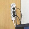 Rallonge multiprise standard 4 prises 2P+T à éclips avec cordon d'alimentation 3G1mm² long.1,5m - Multiprises - Electricité & Eclairage - GEDIMAT