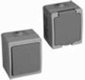 Interrupteur ou va et vient simple étanche série AKYA 10A complet coloris gris clair - Angle int/ext PVC clipsable pour bardage cellulaire original 45 x 45 mm Long.5 m Sable - Gedimat.fr