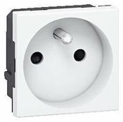 Prise de courant série MOSAIC à composer 2 pôles + terre 16A enjoliveur blanc - Gaine électrique souple ICTA 3422 diam.16mm long.25m coloris gris - Gedimat.fr