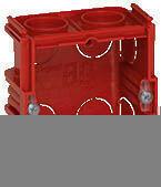 Boîte d'encastrement électrique pour maçonnerie LEGRAND BATIBOX carrée 1 poste prof.40mm - Modulaires - Boîtes - Electricité & Eclairage - GEDIMAT