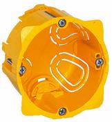 Boîte d'encastrement électrique pour cloison creuse LEGRAND BATIBOX 1 poste diam.67mm profondeur 40mm - Gaine électrique avec tire-fil diam.20mm long.100m - Gedimat.fr