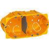 Boîte d'encastrement électrique pour cloison creuse LEGRAND BATIBOX 2 postes diam.67mm prof.40mm - Gaine électrique souple ICTA 3422 diam.16mm long.25m coloris gris - Gedimat.fr