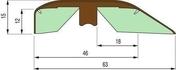 Seuil TECNIS trio modèle M long.0,93m chêne blanc - Quincaillerie de portes - Quincaillerie - GEDIMAT
