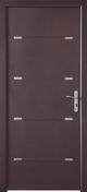 Porte d'entrée ZEN en aluminium gauche poussant haut.2,15m larg.90cm laqué blanc - Rive individuelle gauche 16x27 coloris rustique - Gedimat.fr