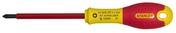 Tournevis FATMAX isolé lame 125mm embout Pozidriv n°2 - Outillage de l'électricien - Electricité & Eclairage - GEDIMAT