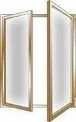 Fen�tre bois exotique lamell� coll� sans aboutage 2 vantaux ouvrant � la fran�aise vitrage transparent haut.1,65m larg.80cm - Fen�tres - Portes fen�tres - Menuiserie & Am�nagement - GEDIMAT