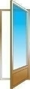 Porte fen�tre bois exotique lamell� coll� sans aboutage 1 vantail ouvrant � la fran�aise. Soubassement serrure. Vitrage transparent gauche tirant haut.2,05m larg.90cm - Fen�tres - Portes fen�tres - Menuiserie & Am�nagement - GEDIMAT