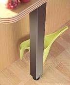 Pied de snack fixe carré inox brossé dim.6x6cm long.87cm +ou- 18mm - Accessoires cuisine - Cuisine - GEDIMAT