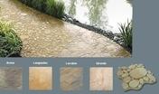 Dalle pavé CHELSEA en pierre reconstituée aspect galets ép.4cm 40x40cm coloris Gironde - Mamelon acier galvanisé double mâle égal FG280 diam.33x42mm avec lien 1 pièce - Gedimat.fr