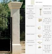 Pilier MISTRAL en pierre reconstituée sous forme de kit coloris Lubéron - Bloc de béton cellulaire chainage d'angle long.60cm haut.25cm ép.15cm - Gedimat.fr