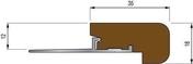 Nez de marche lisse en bois ép.10mm long.2,50m finition bossée - Accessoires pose de carrelages - Revêtement Sols & Murs - GEDIMAT