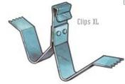 Clips XL pour maintien des couvre-joints TOFFOLO de dilatation dont la largeur initiale est comprise entre 50 et 100mm - Aciers - Ferraillages - Matériaux & Construction - GEDIMAT