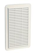 Grille d'aération spéciale façade NICOLL rectangulaire en applique avec moustiquaire haut.277mm larg.166mm coloris blanc - Grilles de ventilation - Chauffage & Traitement de l'air - GEDIMAT