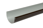 Gouttière PVC demi-ronde LG252M coloris marron long.2m - Rive droite 17 coloris rustique - Gedimat.fr
