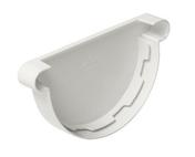 Fond de gouttière PVC de 25 NICOLL FCG25B coloris blanc - Kit main courante au mur STEEL 30 long.1,50m - Gedimat.fr