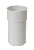 Manchette PVC mâle femelle pour tube de descente de gouttière diam.50mm coloris blanc - Réduction laiton brut mâle femelle à butée extérieure diam.ext.20x27mm diam.int.12x17mm 1 pièce - Gedimat.fr