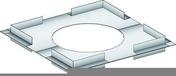 Plaque de distance de sécurité non ventilée pour conduits isolés larg.54cm haut.4cm - Adaptateur air étanche à membrane - Gedimat.fr