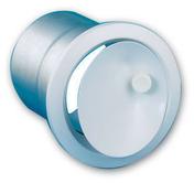 Bouche d'insuflation directionnelle réglable diam.12,5cm - Fronton petit modèle pour faîtière 1/2 ronde et faîtière conique coloris rouge - Gedimat.fr