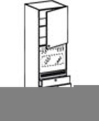 Meuble de cuisine CACHEMIRE armoire four 3 tiroirs + 1 porte haut.200cm larg.60cm - Grille d'aération NICOLL ronde simple avec moustiquaire pour tuyau PVC diam.140mm coloris blanc - Gedimat.fr