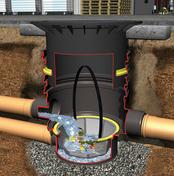 Filtre universel 3 externe passage véhicules couvercle fonte diam.85cm - Récupération d'eau de pluie - Aménagements extérieurs - GEDIMAT
