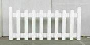 Clôture PLAINE en PVC kit prête à poser coloris blanc - Demi-tuile béton PLEIN CIEL coloris muscade - Gedimat.fr